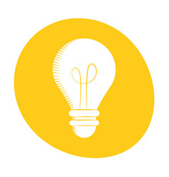Bulb light creativity innovation icon color vector