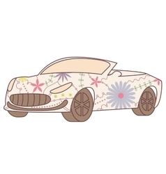 Car cabriolet vintage vector image