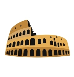 Coliseum in flat vector