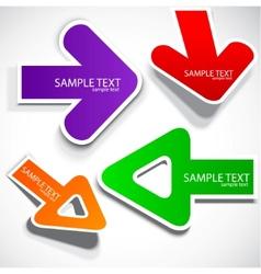 colorful speech arrows vector image