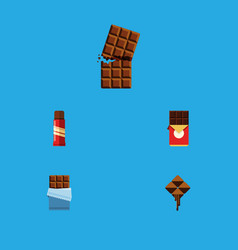 Flat icon bitter set of chocolate bar wrapper vector