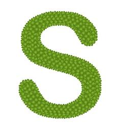 Four Leaf Clover of Alphabet Letter S vector image