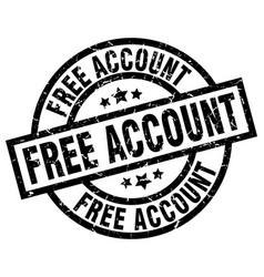 Free account round grunge black stamp vector