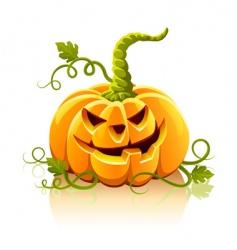 frightful Halloween pumpkin vegetable isolate vector image vector image