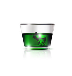 Green drink and ice vector