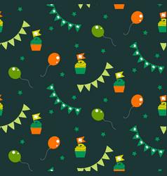 Irish celebration party seamless pattern vector