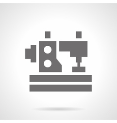 Monochrome sewing machine glyph style icon vector image