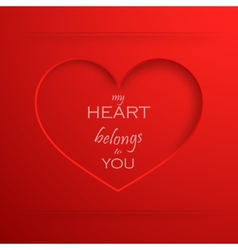 My heart belongs to you Abstract holiday vector image vector image