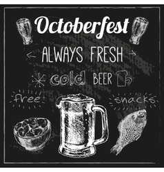 Oktoberfest beer design vector