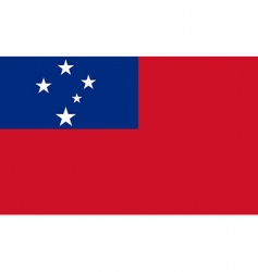 samoa flag vector image vector image