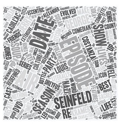 Seinfeld season dvd text background wordcloud vector