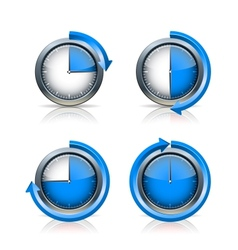 Set of Timer clocks vector image vector image