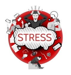 Stress Concept vector image vector image