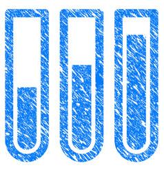 Test tubes grunge icon vector