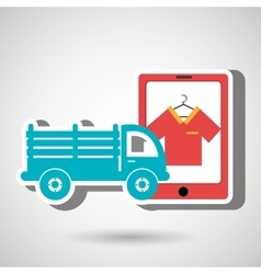 Truck stake delivery vector