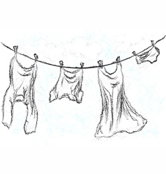 washing line vector image