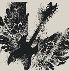 with an electric guitar and wings vector image vector image