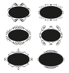 Frame set ornamental vintage decoration vector