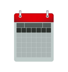 color calendar with two rings vector image
