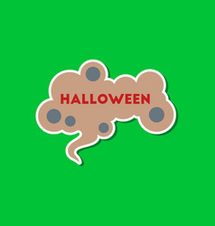 paper sticker on stylish background halloween sign vector image