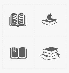 Modern web books set on white vector