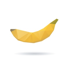 Banana abstract isolated on a white backgrounds vector