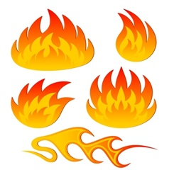 Abstract flame vector