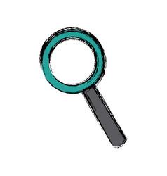 Magnifier search loupe investigation icon vector