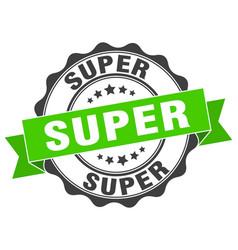 Super stamp sign seal vector