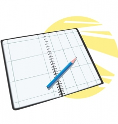 planner calendar vector image