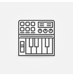 Synthesizer linear icon vector