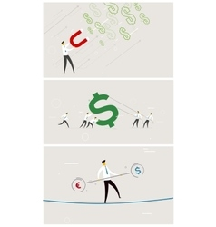 Set of business exchange rate money vector