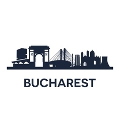 Bucharest city skyline vector