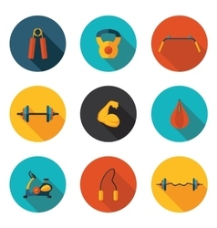 Gym flat icons vector
