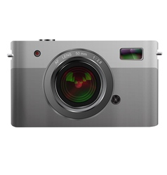 Photo camera isolated on white vector