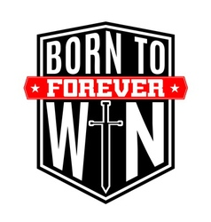 T shirt typography graphic quote born to win vector