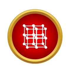 Molecular lattice icon in simple style vector