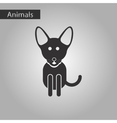 Black and white style icon pet dog vector