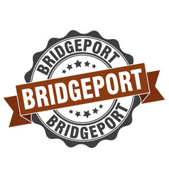 Bridgeport round ribbon seal vector