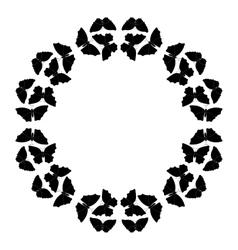 Butterflies frame Circular pattern border vector image vector image
