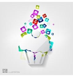 Cake web icon vector image