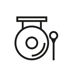 chinese gong hammer icon on white background vector image vector image