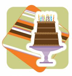 chocolate birthday cake illustration vector image vector image