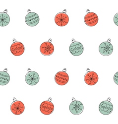 Christmas balls seamless background vector image