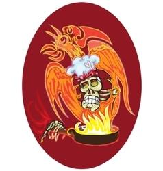 Cook - skull vector