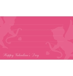 Cupid background for valentine greeting card vector