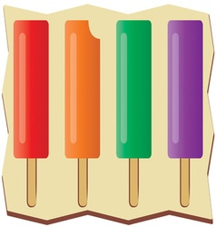 Flavored popsicles vector
