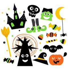Halloween elements vector image vector image