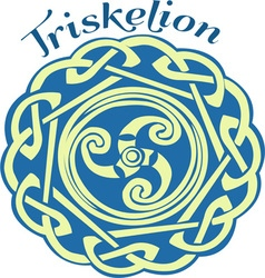 Irish triskelion vector