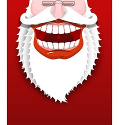 Jolly santa claus joyful grandfather with white vector